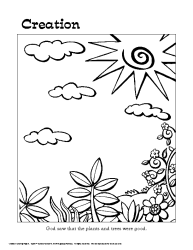 creation story colouring pages