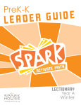 Spark Lectionary / Year A / Winter 2019-2020 / PreK-K / Leader Guide