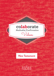 Colaborate: Methodist Confirmation / DVD / New Testament