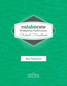 Colaborate: Presbyterian Confirmation / Student Handbook / New Testament