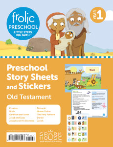 Frolic Preschool / Old Testament / Year 1 / Ages 3-5 / Story Sheets and Stickers