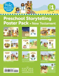 Frolic Preschool / New Testament / Year 1 / Ages 3-5 / Storytelling Posters