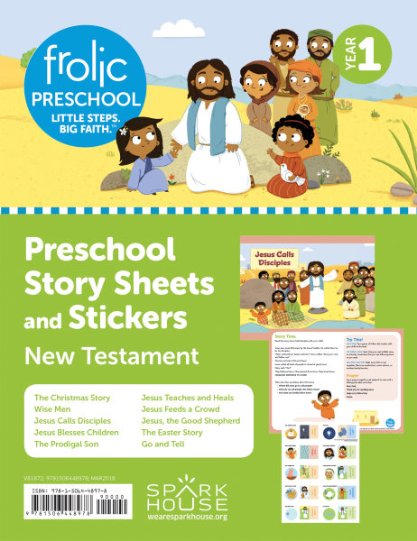 Frolic Preschool / New Testament / Year 1 / Ages 3-5 / Story Sheets and Stickers