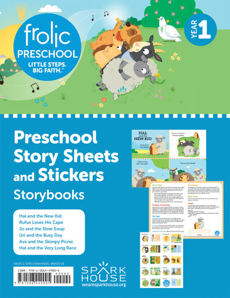 Frolic Preschool / Storybooks / Year 1 / Ages 3-5 / Story Sheets and Stickers