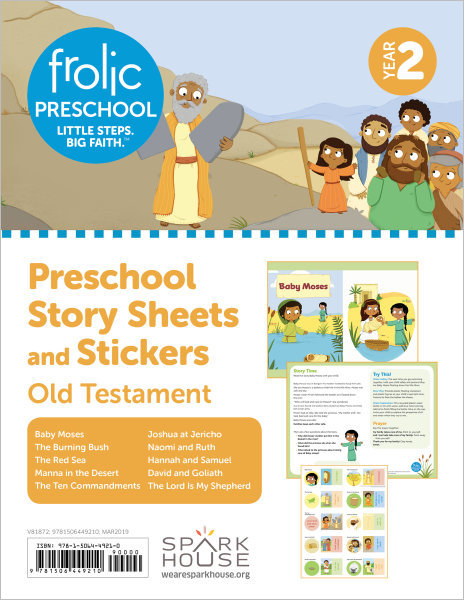 Frolic Preschool / Old Testament / Year 2 / Ages 3-5 / Story Sheets and Stickers