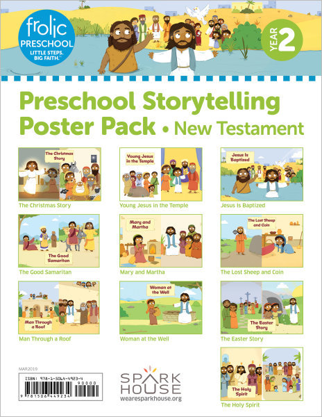 Frolic Preschool / New Testament / Year 2 / Ages 3-5 / Storytelling Posters