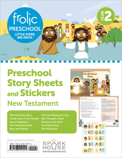 Frolic Preschool / New Testament / Year 2 / Ages 3-5 / Story Sheets and Stickers